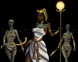 The Egyptian Sorceress and Her Sisters by TyrannoNinja