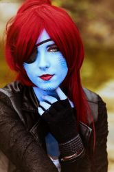 Undyne Undertale Cosplay by Kathichaan