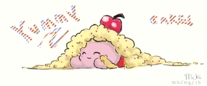 Kirby n' Cake by Super100Miki