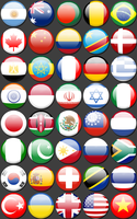 National Flag Buttons by SkyRice