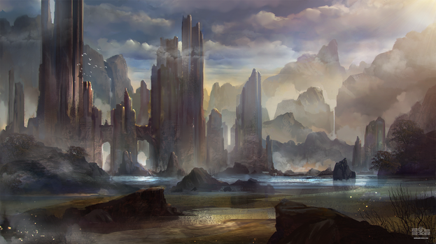 Fantasy Environment by Byzwa-Dher