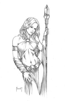 Young Sorceress by MitchFoust