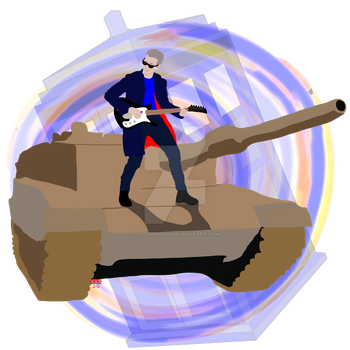Doctor Who Riding A Tank Playing Guitar by LittleMarin