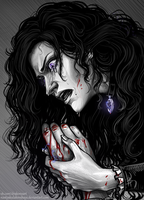 Yennefer and the hand of Geralt by NastyaKulakovskaya