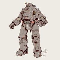 Old Retro Sci-fi Power armor by Fernand0FC