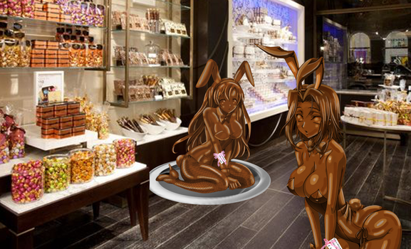 Shirley and Kallen - Deluxe Chocolate Bunnies by adi1625