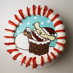 PomPomPurin Christmas Cake + Recipe + Video by SweetMissCreation
