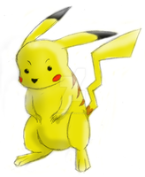 Pose Pikachu -colored- by Fogdragon23