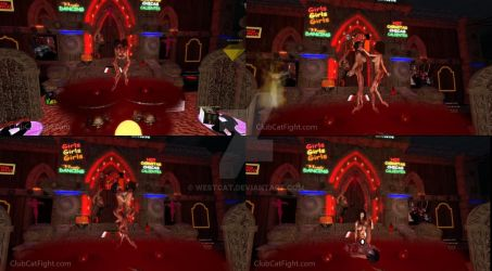 Interactive Bloody Vampire CatFight by westcat