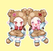 Ten and Gou Bears by DreamySheepStudios