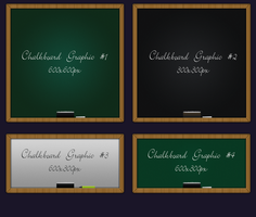 4 Different Chalkboard psd file by vesperTiLo