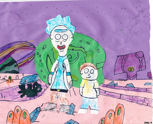 Construction Paper Rick  Morty. by Jules2005