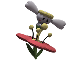 Flabebe (Sadly no accent E's on DA) Custom 3d Art
