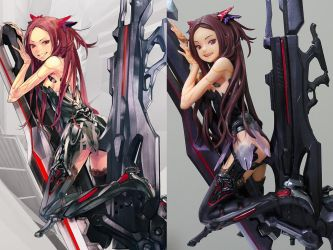 BEATLESS Kouka Garage Kit Figure by redjuice999