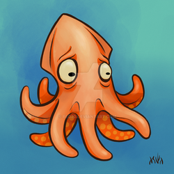 Worried Squid by red20
