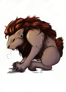 Grumpy Warg (Colours) by chalcara