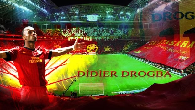 Didier Drogba Galatasaray Wallpaper by fatihdmrg