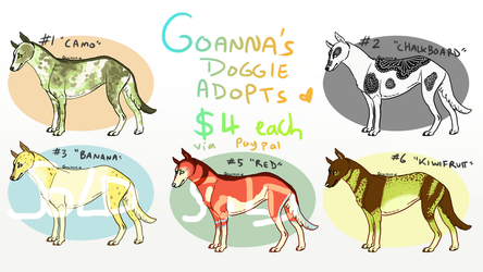 [USD] $4 Dog Adopts! (OPEN) by Sunfloweradopts