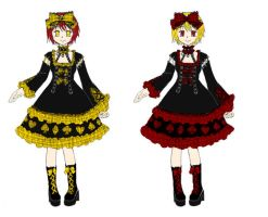 Punk Lolita Cards Suit Dress by Nisai