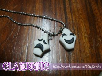 Polymer Clay Trese Twins Necklace by bhayolet