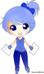 .::chibi girl blue colored::. by hikari-chan990