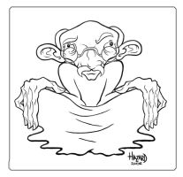 Gandhi Caricature by MRHaZaRD