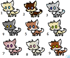 1 point Adoptables Batch 1: Kittens [CLOSED] by Xx-EchoWolf-xX