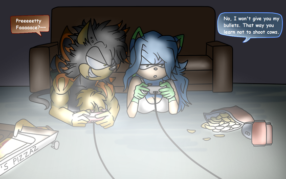 Gaming night by SonicRulez21