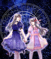 Starry Sisters by PlatinaSi