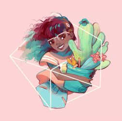 Remember To Hug Your Cactus 3 Times Daily by GDBee