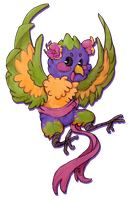 Sketch Commission - Lorikeet by Moth-Doll