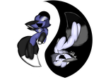 Ying yang blue by Perma-Fox