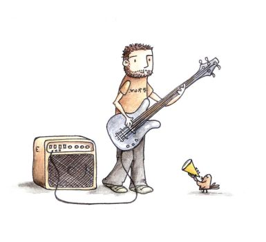 Cesar, the bass player by ezcurra