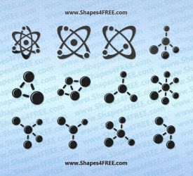 12 Atom and Molecule PS Shapes by Shapes4FREE