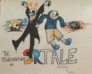 The Misadventures of SRtale Gaster and Sans by superhorse18
