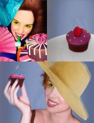 Cupcakes and pie by Laura-Abigail