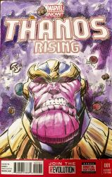 Thanos Rising - Sketch Cover in Watercolors by josesartcave