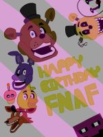 Happy Birthday, Five Nights at Freddy's! by PopperRemix