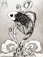 Inked Koi by Legendary-Darkness