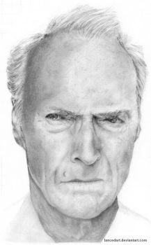 Clint Eastwood by lancedART