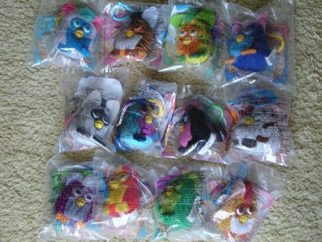 My Furby Collection: McD's Furby Keychain Plushes by sbfan101909