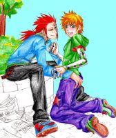 axel cops a feel by raynebou