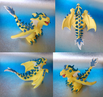Yellow Wyvern by Alexandrite-Dragons