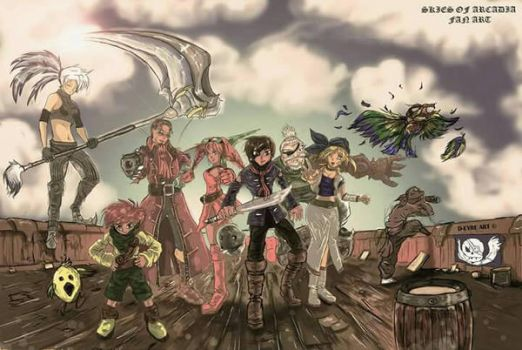 Skies of Arcadia by DarrenEyresArt