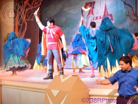 Gaston and the townspeople by beautifuldisaster738