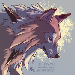 Doodle Commission | Lycanroc by rosiesinner