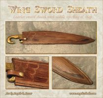 Wing Sword Sheath by Angelic-Artisan