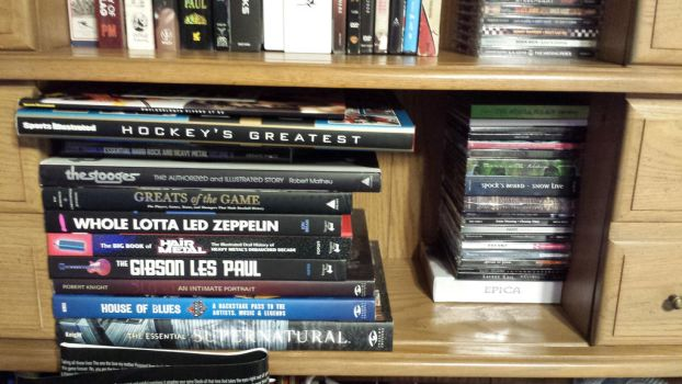 Some more of my books and cds by ATwistintheMyth