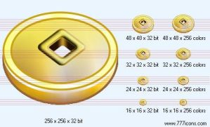 Fengshui coin Icon by money-icons