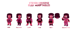 Steven Universe Adoptabes - Classic Rubies -OPEN- by JoTehDemonicPickle